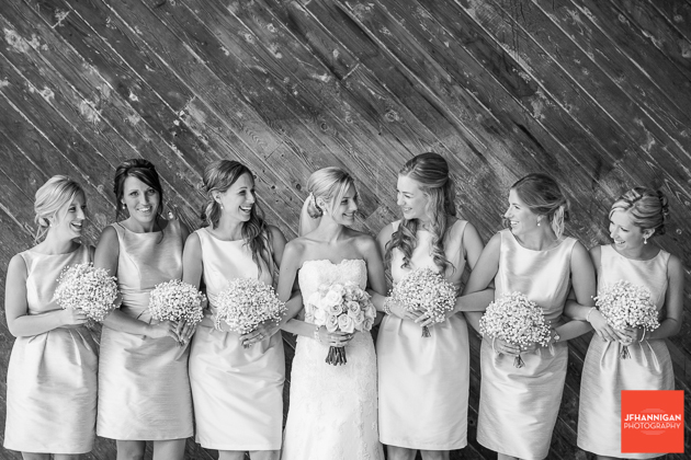 black and white photo bridal party Niagara Wedding Photographer