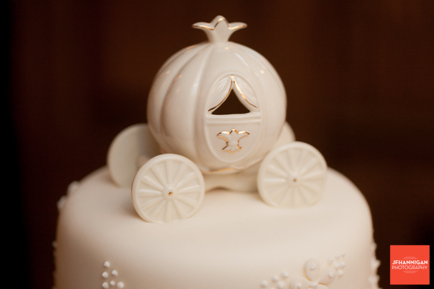 carriage wedding cake topper