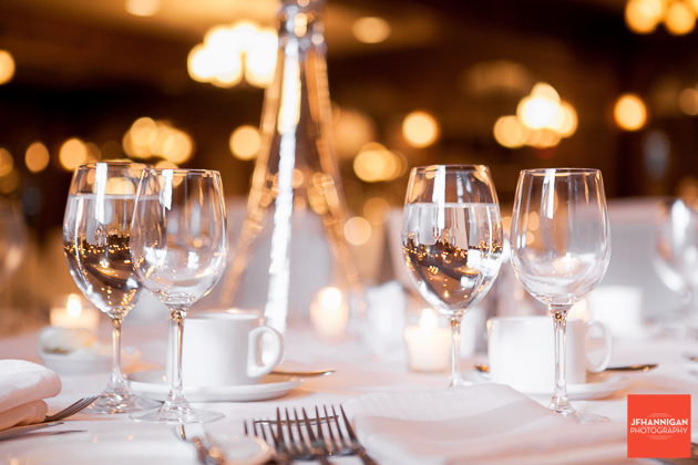 wedding reception tableware