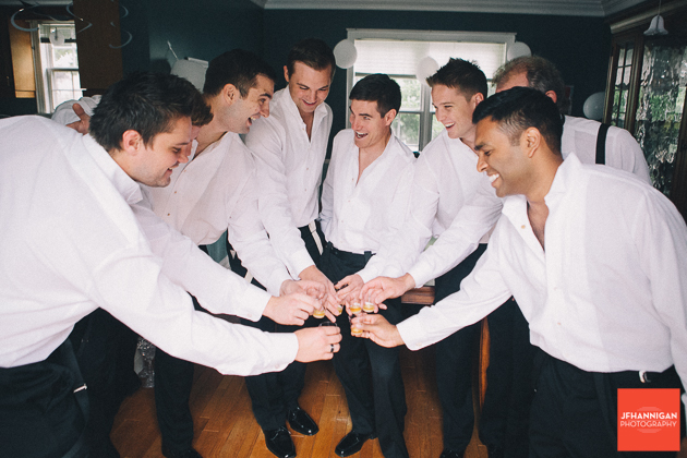 groomsmen give a toast