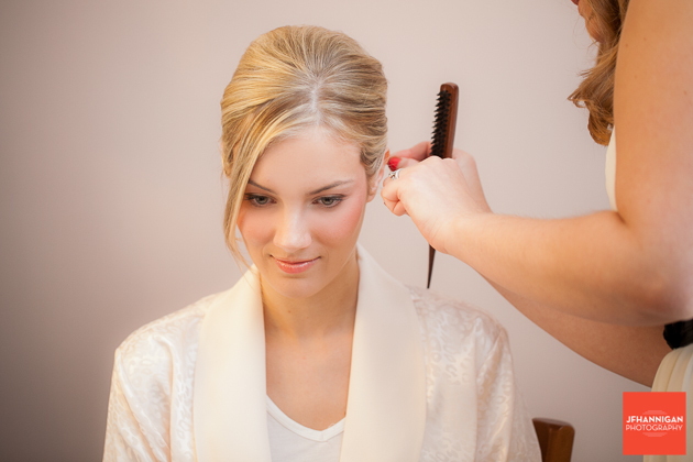 bride's hair preparations