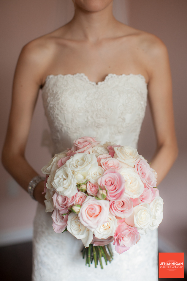 bride and rose bouquet