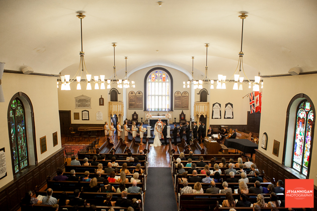 view of church during wedding ceremony