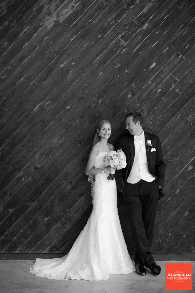 black and white bride and groom portrait Niagara Wedding Photographer