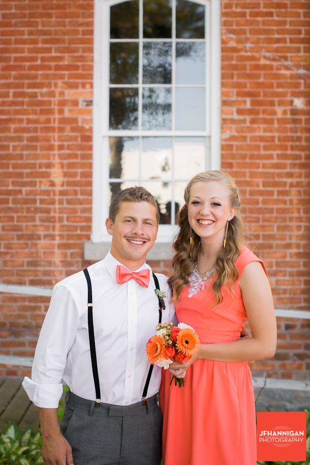 wedding party couple portrait