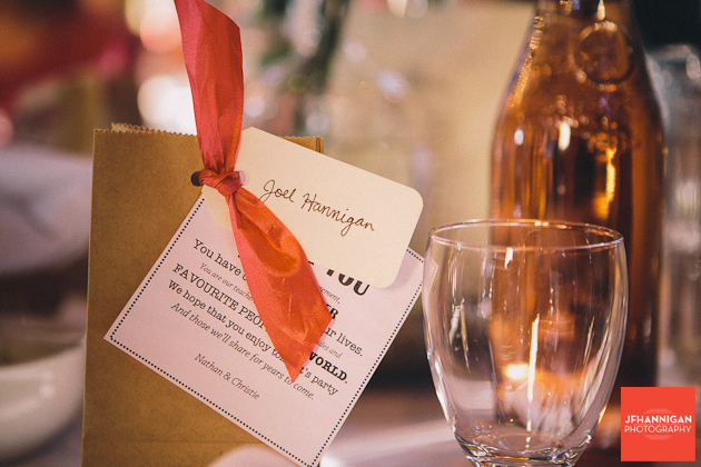 table favor at wedding reception