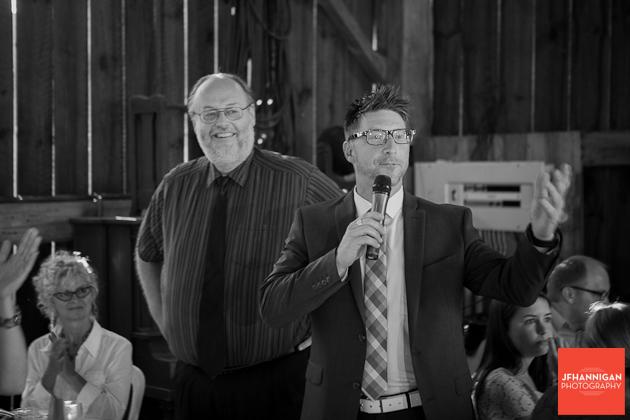 speeches at barn wedding reception