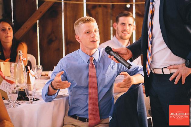 open floor microphone at wedding reception