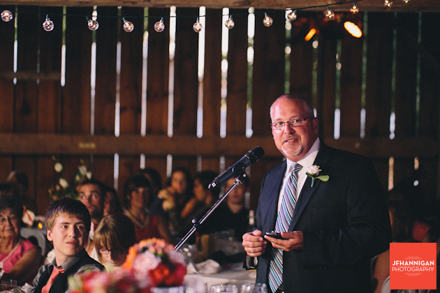 groom's father speech at barn reception Wainfleet Heritage Village