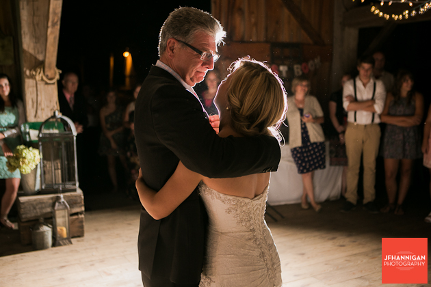 father/daughter dance barn reception Wainfleet Heritage Villiage