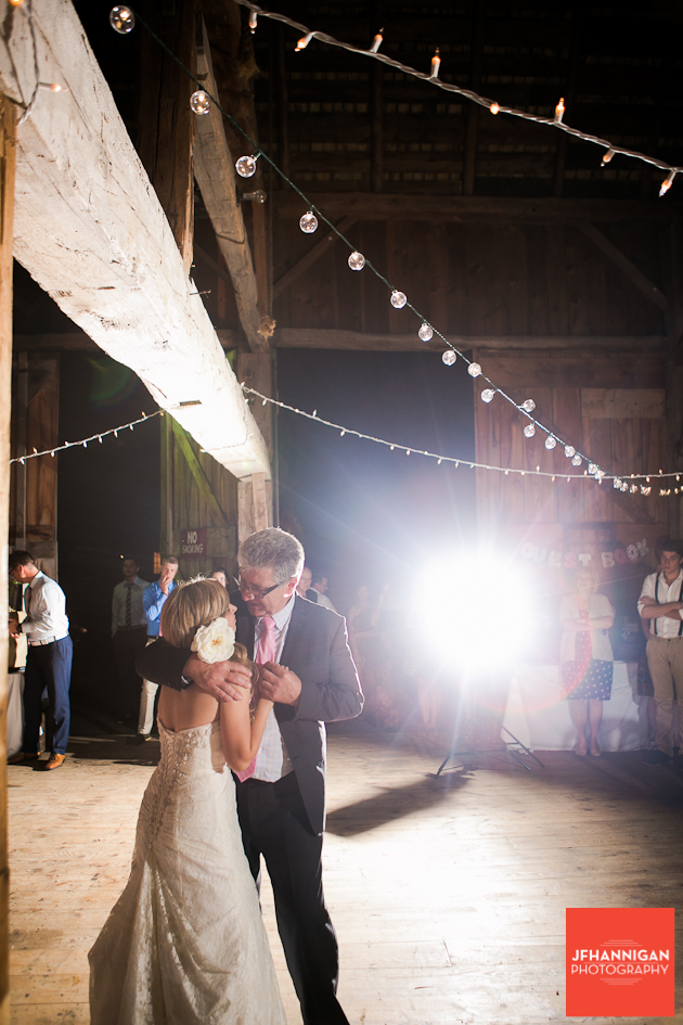 father/daughter dance barn reception