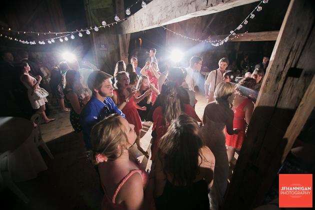 dances at barn wedding reception