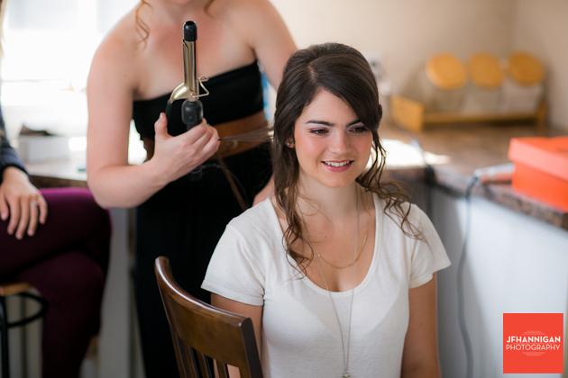 attendant having hair curled