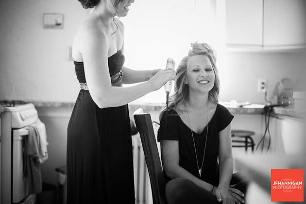 hair styling of the bride Niagara Wedding Photographer