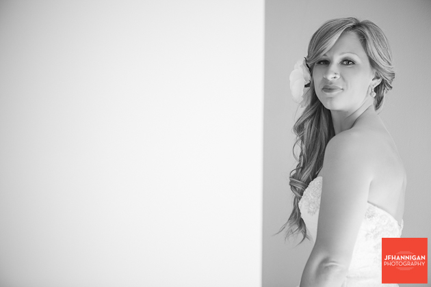 bride  with flower in hair Niagara wedding photographer