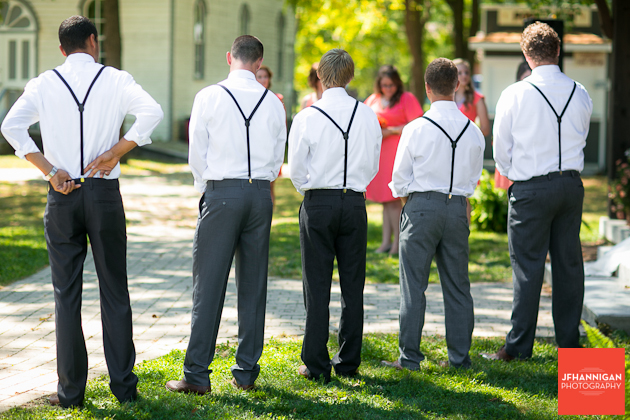 bridal party during wedding