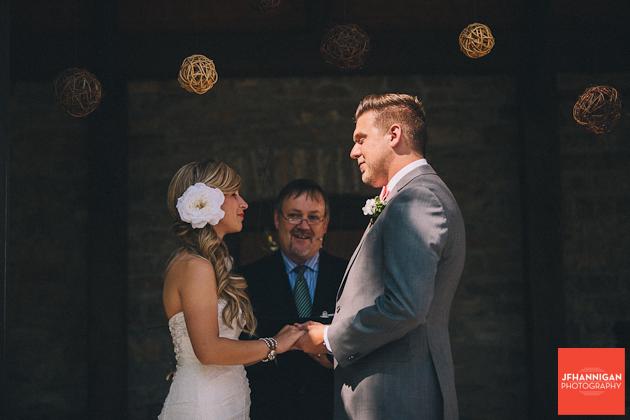 bride and groom exchange vows Niagara Wedding Photographer