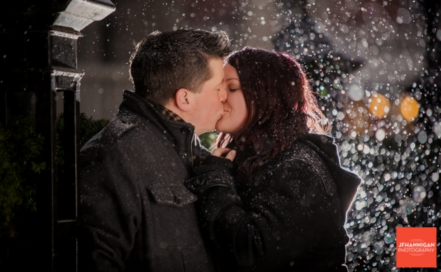 Jenn and Nick: snowy old town